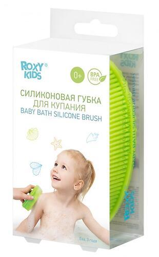 Губка для тела Roxy Kids силиконовая Салатовая (10)