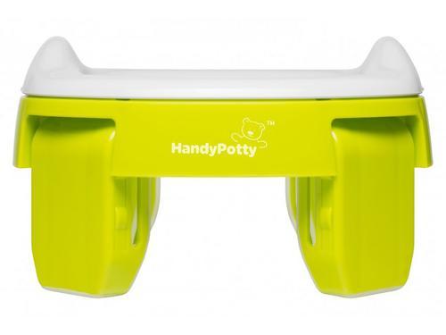 Горшок Roxy Kids дорожный и насадка на унитаз HandyPotty Лайм (13)