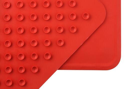 Антискользящий резиновый коврик для ванны Roxy Kids Красный (7)