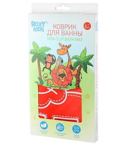 Антискользящий резиновый коврик для ванны Roxy Kids Красный (8)