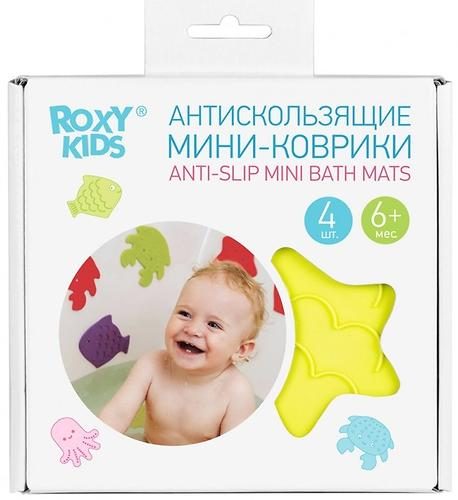 Мини-коврики для ванны Roxy Kids в ассортименте 4 шт/уп (11)