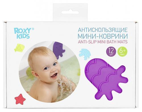 Антискользящие мини-коврики Roxy-Kids для ванны в ассортименте 12 шт/уп (11)