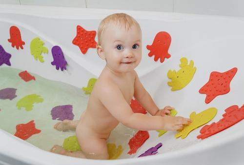 Антискользящие мини-коврики Roxy-Kids для ванны в ассортименте 12 шт/уп (8)