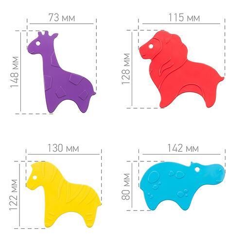 Антискользящие мини-коврики ROXY-KIDS для ванны Safari в ассортименте 10 шт (13)