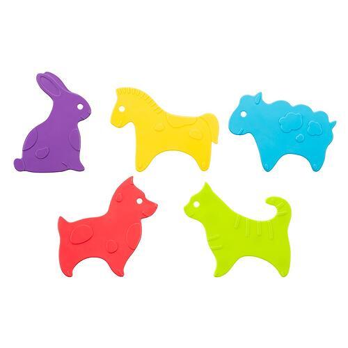 Антискользящие мини-коврики ROXY-KIDS для ванны Animals в ассортименте 5 шт (8)