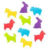 Антискользящие мини-коврики ROXY-KIDS для ванны ANIMALS 15шт