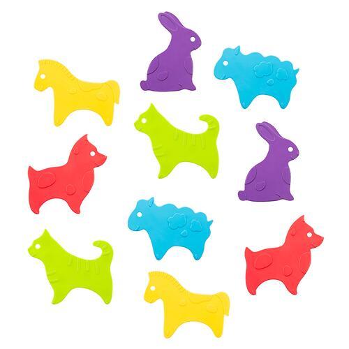 Антискользящие мини-коврики ROXY-KIDS для ванны ANIMALS 15шт (7)