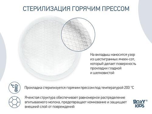Ночные прокладки для груди ROXY-KIDS HONEY SILK 120 мл 36 штук (15)