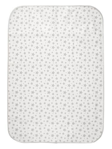 Клеенка-наматрасник ROXY-KIDS с резинками-держателями Серые звезды (5)
