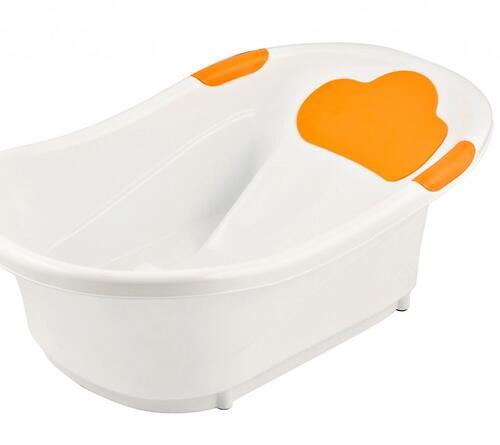 Ванночка Roxy Kids с анатомической горкой и сливом Оранжевая (8)