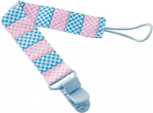 Держатель для пустышек Roxy Kids с игрушкой Голубой-Розовый (6)