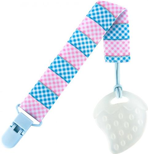 Держатель для пустышек Roxy Kids с игрушкой Голубой-Розовый (7)