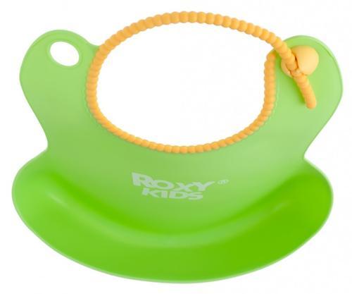 Нагрудник Roxy Kids мягкий с кармашком и застежкой RB-401-Y Желтый (10)