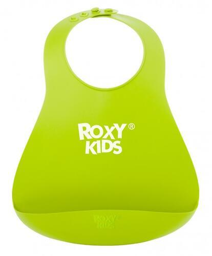 Нагрудник Roxy Kids мягкий с карманом для крошек RB-402G Зеленый (8)