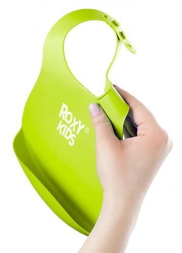 Нагрудник Roxy Kids мягкий с карманом для крошек RB-402G Зеленый (9)