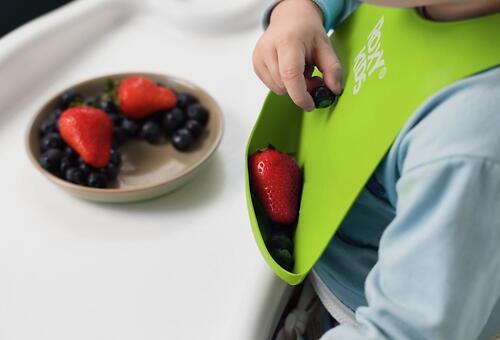 Нагрудник Roxy Kids мягкий с карманом для крошек RB-402G Зеленый (13)