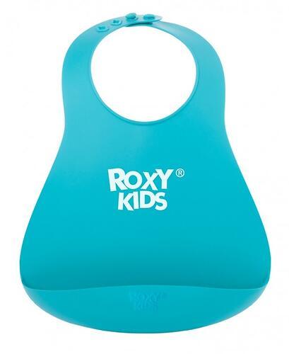 Нагрудник Roxy Kids мягкий с карманом для крошек RB-402M Мятный (8)