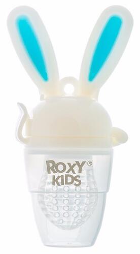 Ниблер Roxy Kids для прикорма Bunny Twist силиконовый Голубой (6)
