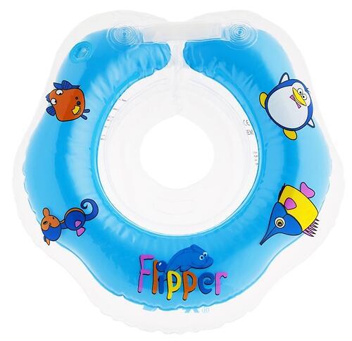 Круг на шею Roxy Kids Flipper для купания малышей 0+ Голубой (6)
