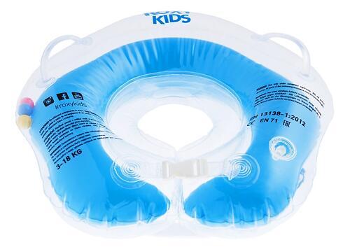 Круг на шею Roxy Kids Flipper для купания малышей 0+ Голубой (7)