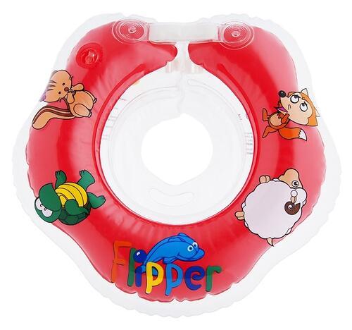 Круг на шею Roxy Kids Flipper для купания малышей 0+ Красный (7)