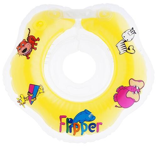 Круг на шею Roxy Kids Flipper для купания малышей 0+ Желтый (6)