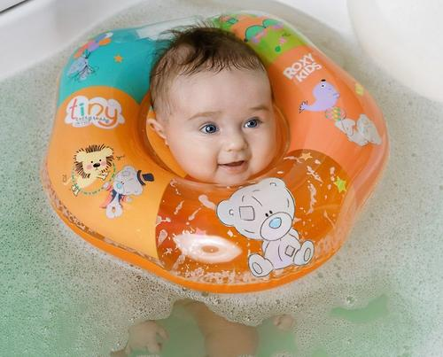 Надувной круг на шею Roxy Kids для купания малышей Teddy Circus (12)