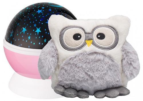 Ночник-проектор звездного неба Roxy Kids с игрушкой Little Owl Розовый + плюшевая Сова (6)