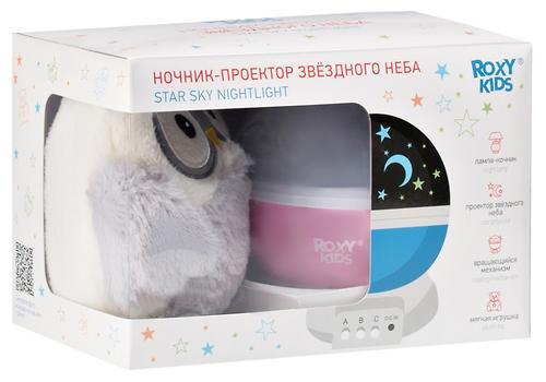 Ночник-проектор звездного неба Roxy Kids с игрушкой Little Owl Розовый + плюшевая Сова (7)