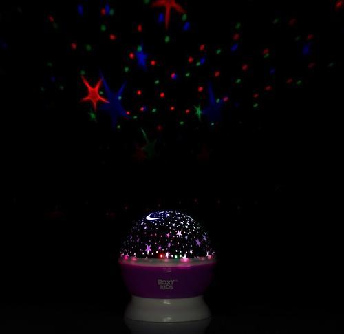 Ночник-проектор звездного неба Roxy Kids с игрушкой Little Owl Розовый + плюшевая Сова (8)