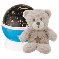 Ночник-проектор Roxy Kids звездного неба с игрушкой Teddy Голубой- плюшевый Мишка