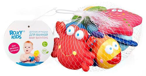 Набор игрушек Roxy Kids для ванной Морские обитатели 6 игрушек (5)