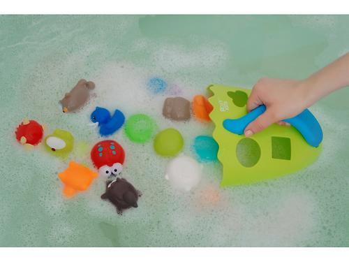 Органайзер-сортер Roxy Kids Dino с полочкой для хранения игрушек и банных принадлежностей Зеленый (19)