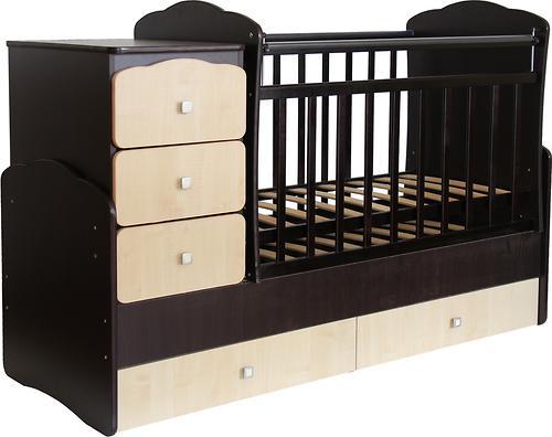 Уценка! Кроватка детская Фея 2100 Венге-клен (4)