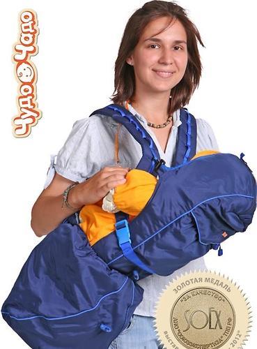 Кенгуру-рюкзак Чудо-Чадо Baby Active Luxe Синий (1)