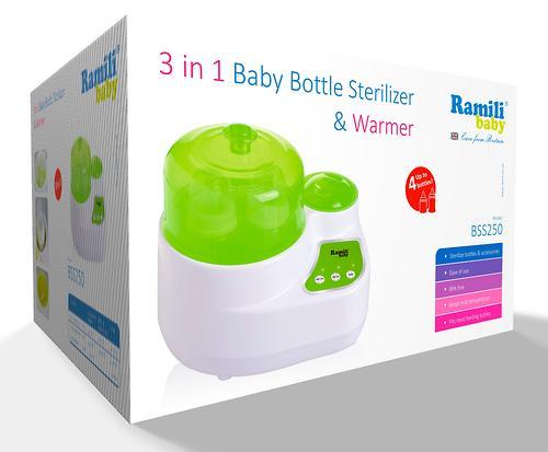 Стерилизатор-подогреватель 3в1 Ramili для бутылочек и детского питания BSS250 (4)