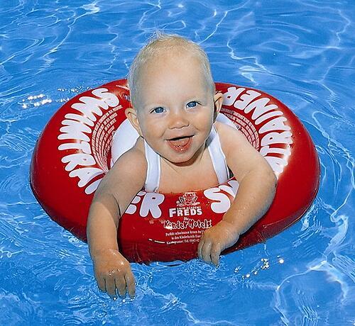 Надувной круг для плавания Swimtrainer красный от 3 мес. до 4 лет (7)