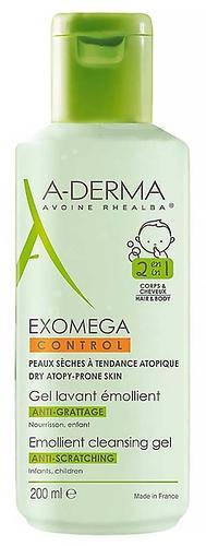 Гель 2в1 A-Derma Exomega Control для волос и тела 200 мл (1)