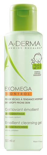 Гель 2в1 A-Derma Exomega Control для волос и тела 500 мл (1)