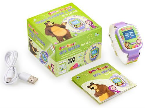 Часы-Телефон AGU с GPS трекером Маша и Медведь (7)