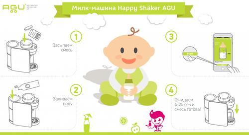 Машина AGU для приготовления детской смеси PMBF2 (13)