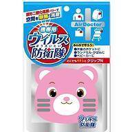 Блокатор вирусов Air Doctor Bear Pattern Pink Kiyou Jochugiku портативный