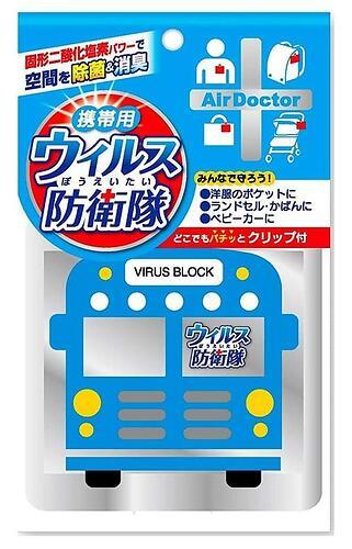 Блокатор вирусов Air Doctor Bus Pattern Blue портативный (1)