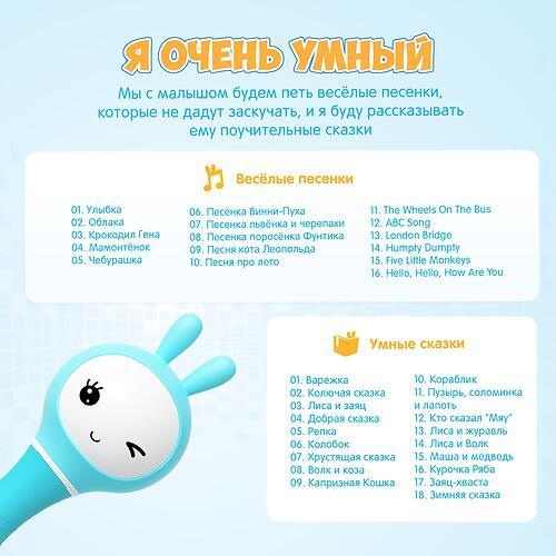 Цифровая музыкальная погремушка Alilo Умный зайка R1 жёлтый (21)