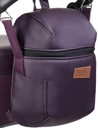 Коляска 3в1 Anex Cross Dark Plum (13)