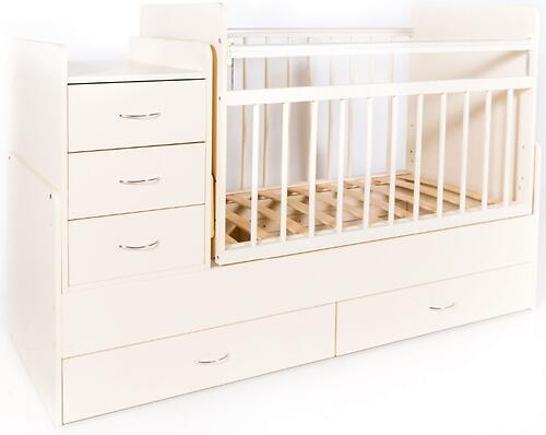 Кровать-трансформер детская Bambini M 01.10.01 Слоновая кость ЛДСП (4)
