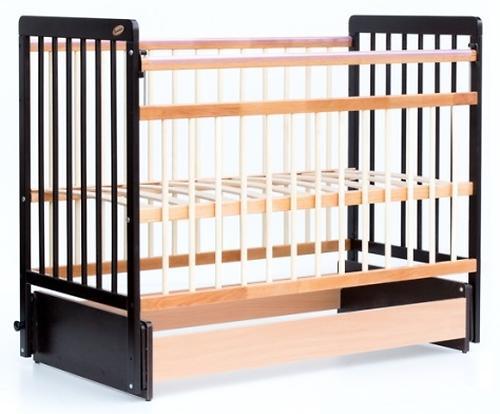 Кровать детская Bambini Евро стиль М 01.10.05 Темный орех+Натуральный (4)