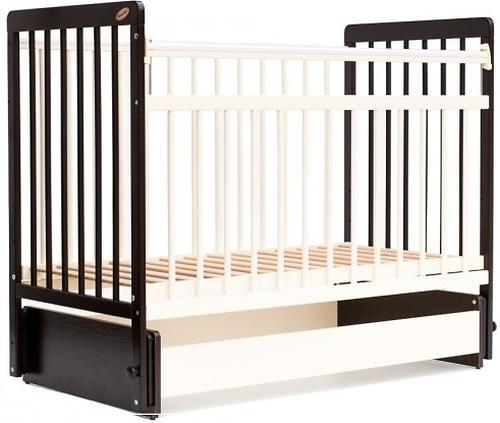 Кровать детская Bambini Евро стиль M 01.10.05 Темный орех+Слоновая кость (4)