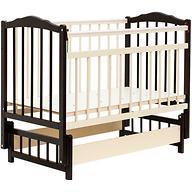 Кровать детская Bambini Классик M 01.10.11 Темный орех+Слоновая кость