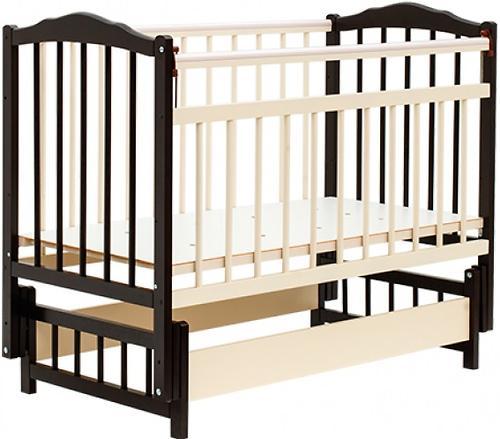 Кровать детская Bambini Классик M 01.10.11 Темный орех+Слоновая кость (1)